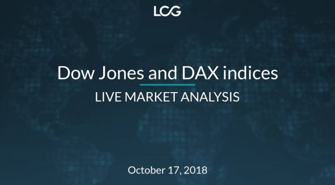 Dow Jones And Dax Indices Live Market Ysis Oct 17 2018